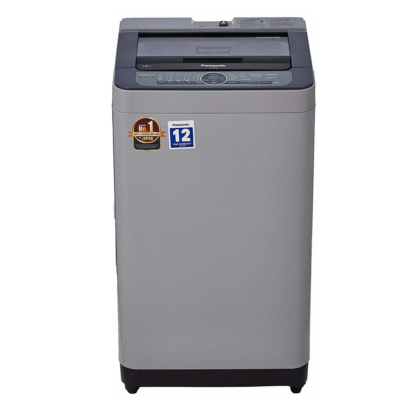 Panasonic NA F72BH8 7.2 Kg Fully Automatic Top Loading Washing Machine