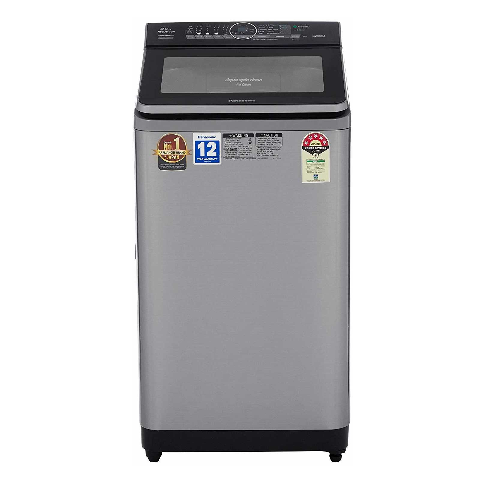 Panasonic NA F80S8 8 Kg Fully Automatic Top Loading Washing Machine