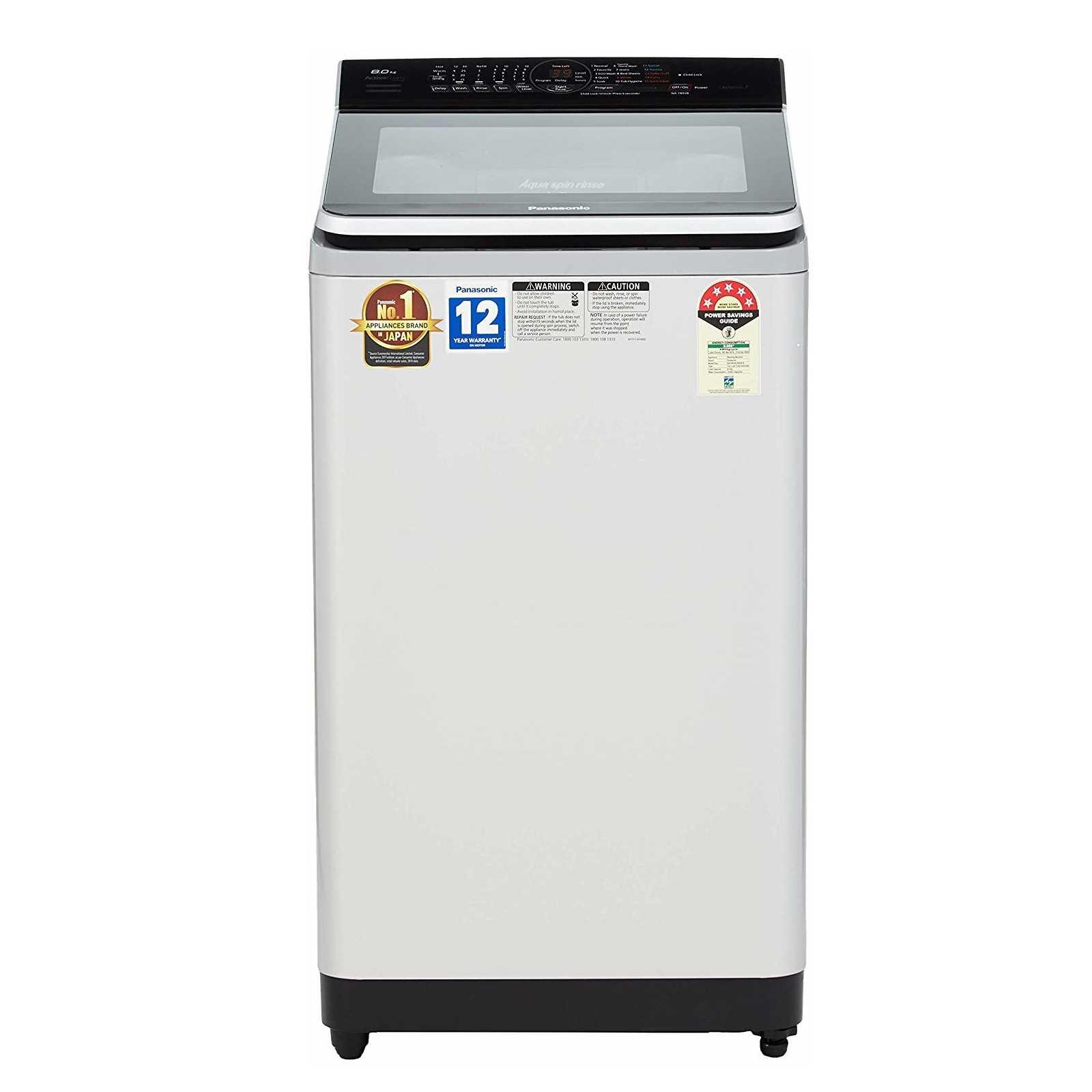 Panasonic NA F80V8 8 Kg Fully Automatic Top Loading Washing Machine