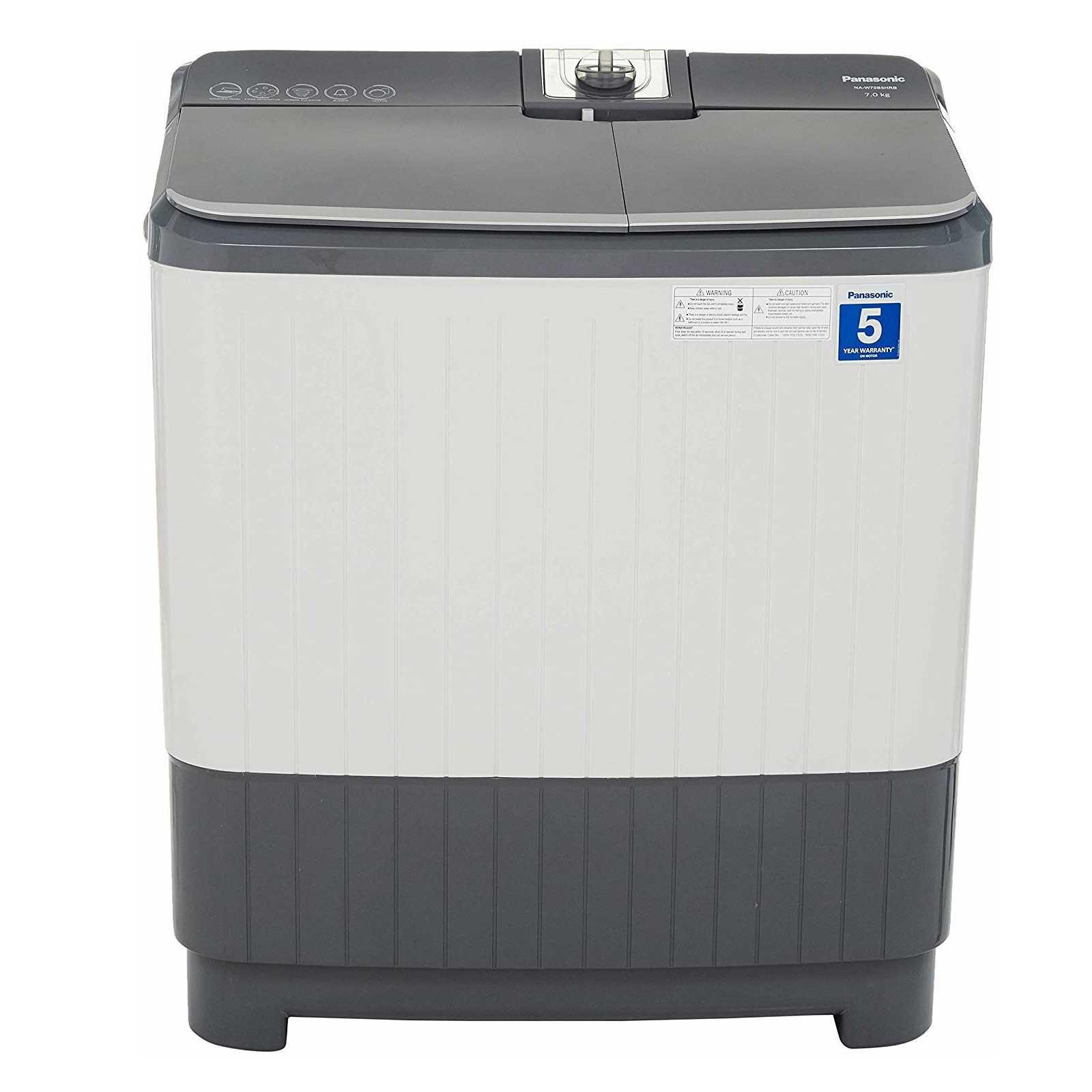 Panasonic NA W70B5HRB 7 Kg Semi Automatic Top Loading Washing Machine