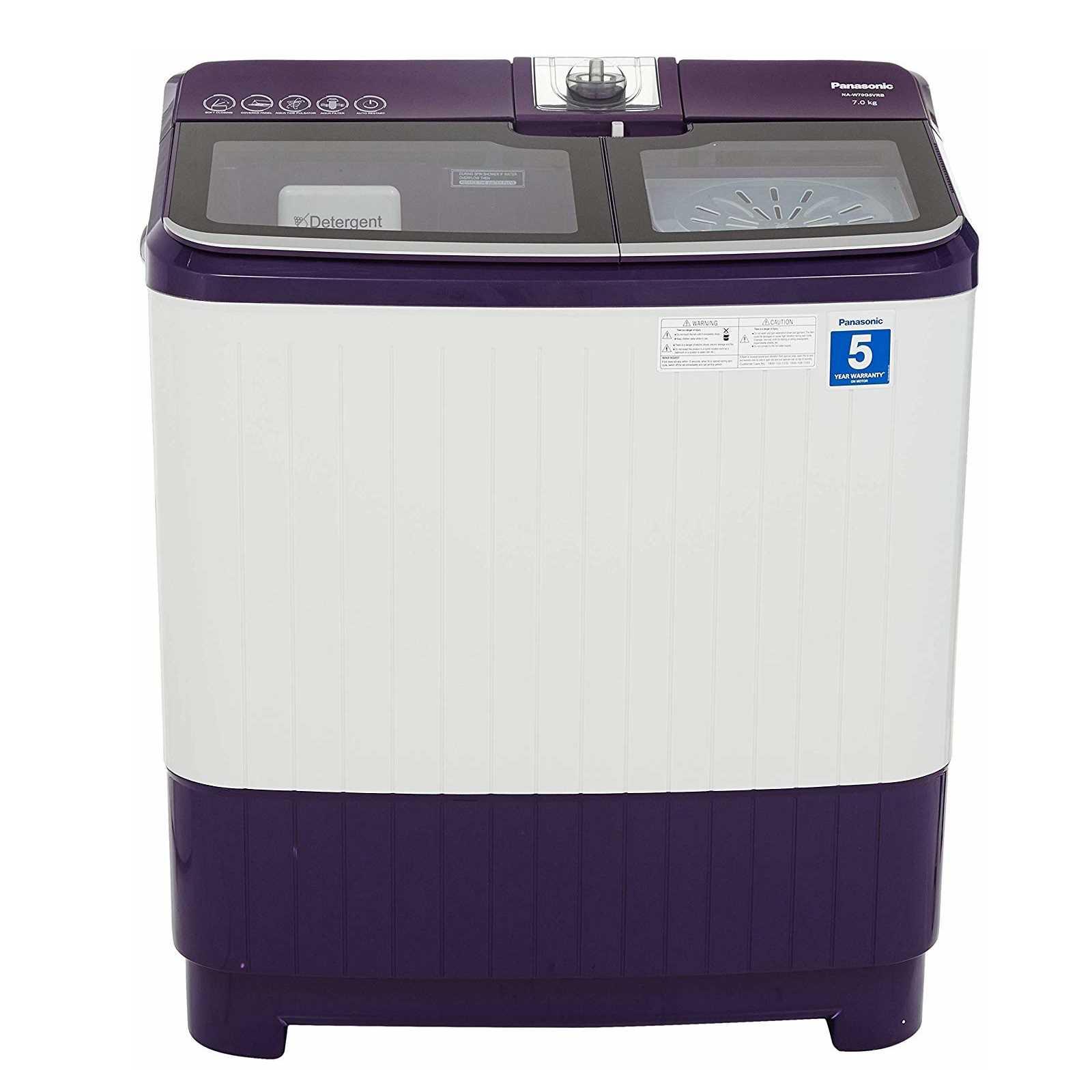 Panasonic NA W70G5VRB 7 Kg Semi Automatic Top Loading Washing Machine