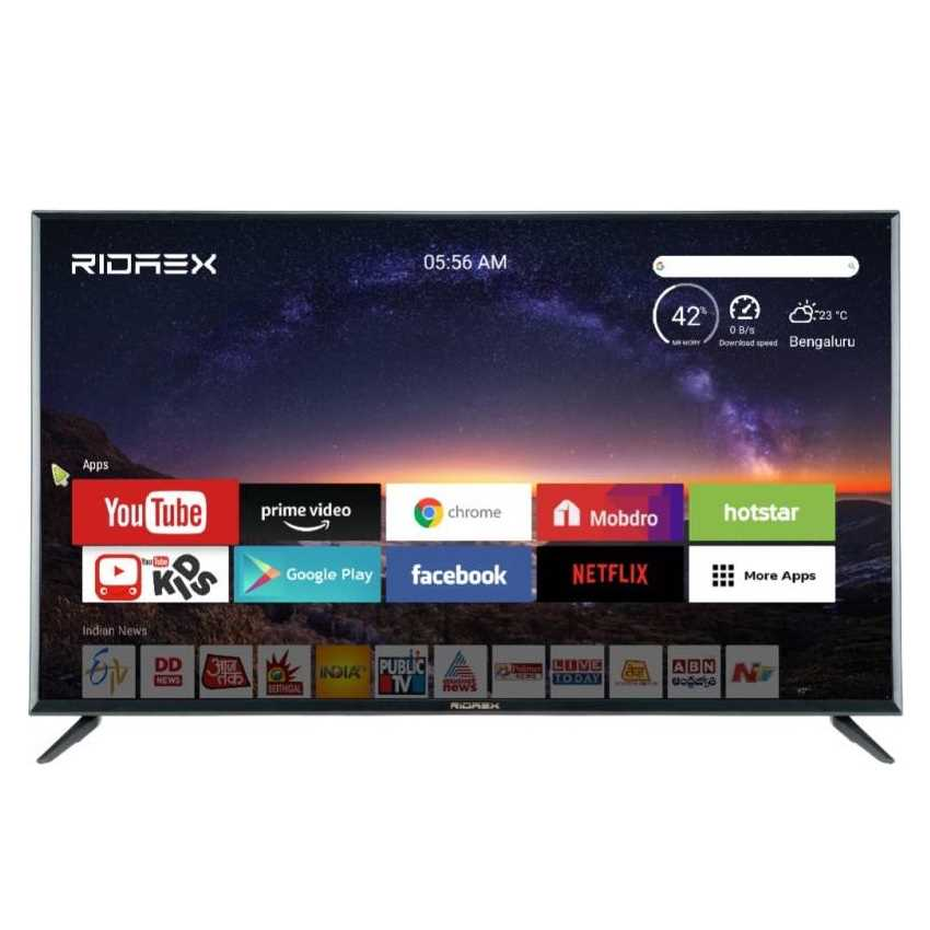 Ridaex REPRO150 50 Inch 4K Ultra HD Smart Android LED Television