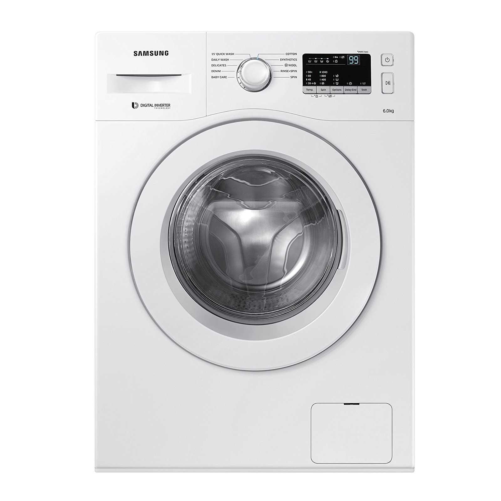Samsung WW60M206LMW TL 6 Kg Fully Automatic Front Loading Washing Machine