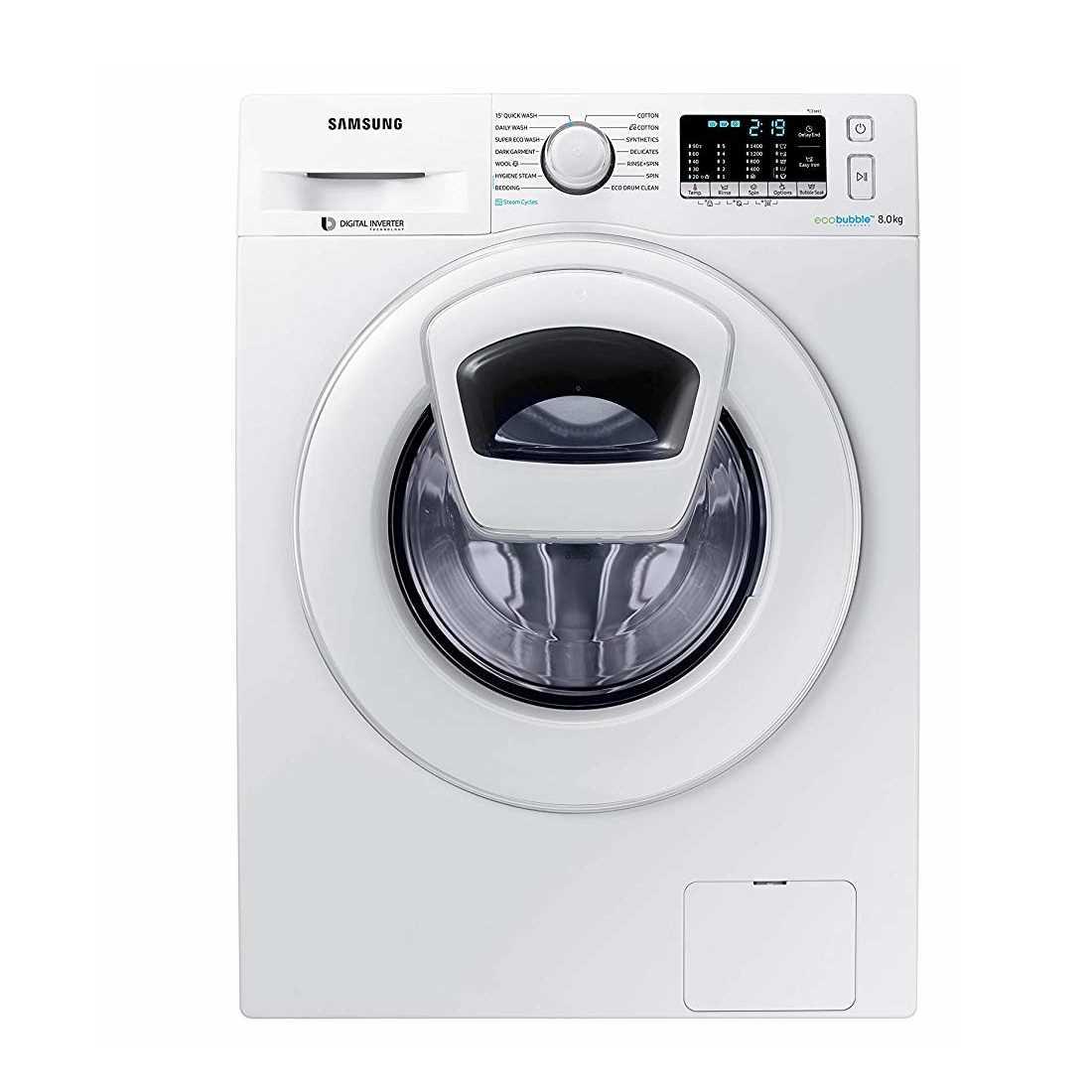 Samsung WW80K54E0WW 8 Kg Fully Automatic Front Loading Washing Machine