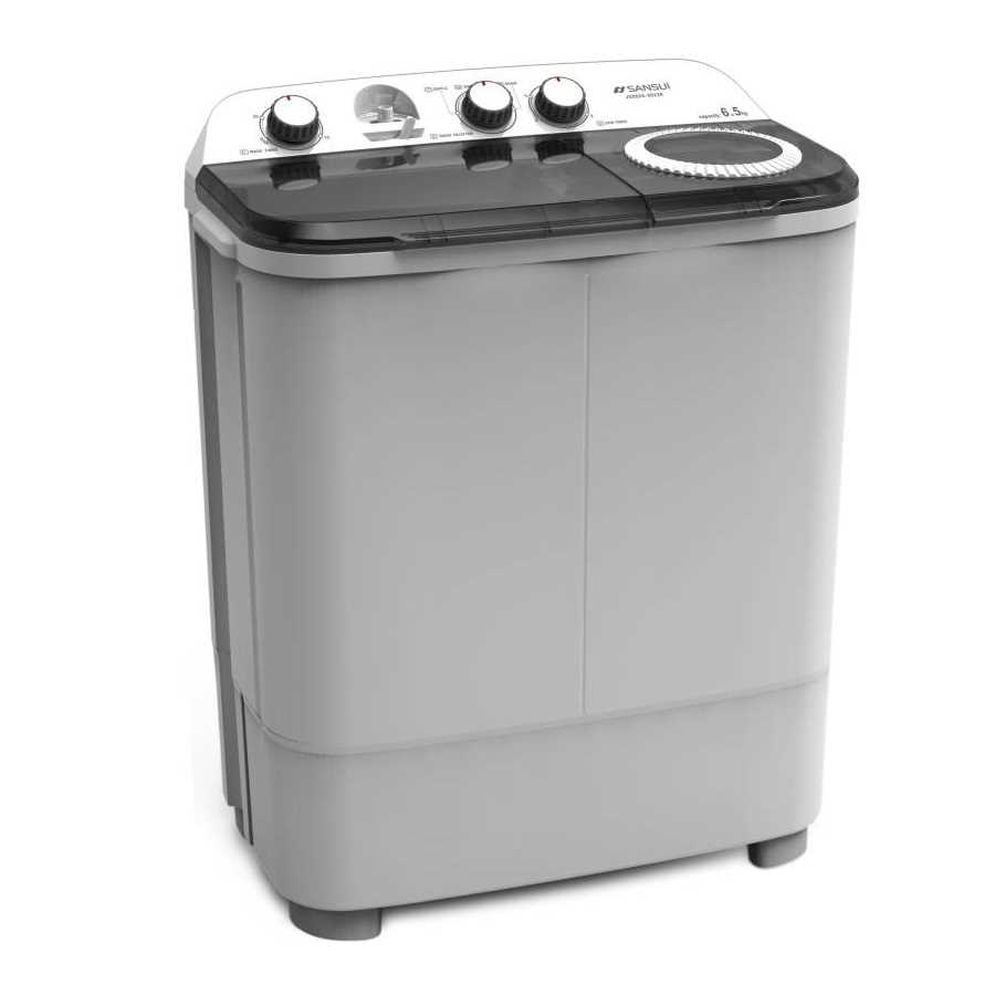 Sansui JSX65S-2022K 6.5 Kg Semi Automatic Top Loading Washing Machine