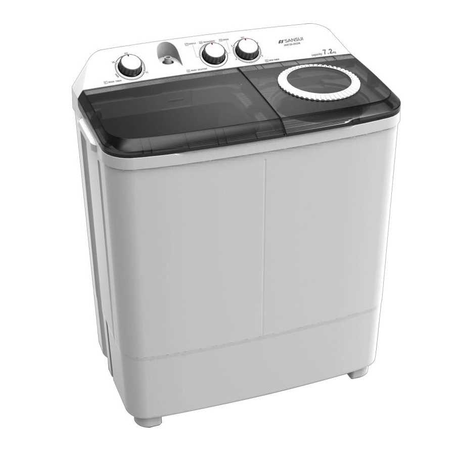 Sansui JSX72S-2022K 7.2 Kg Semi Automatic Top Loading Washing Machine