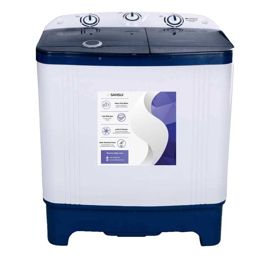 Sansui SISA62GBLW 6.2 Kg Semi Automatic Top Loading Washing Machine