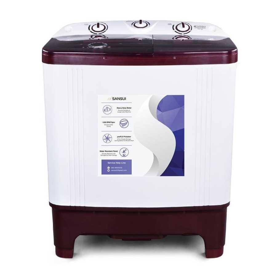 Sansui SISA65GMAW 6.5 Kg Semi Automatic Top Loading Washing Machine