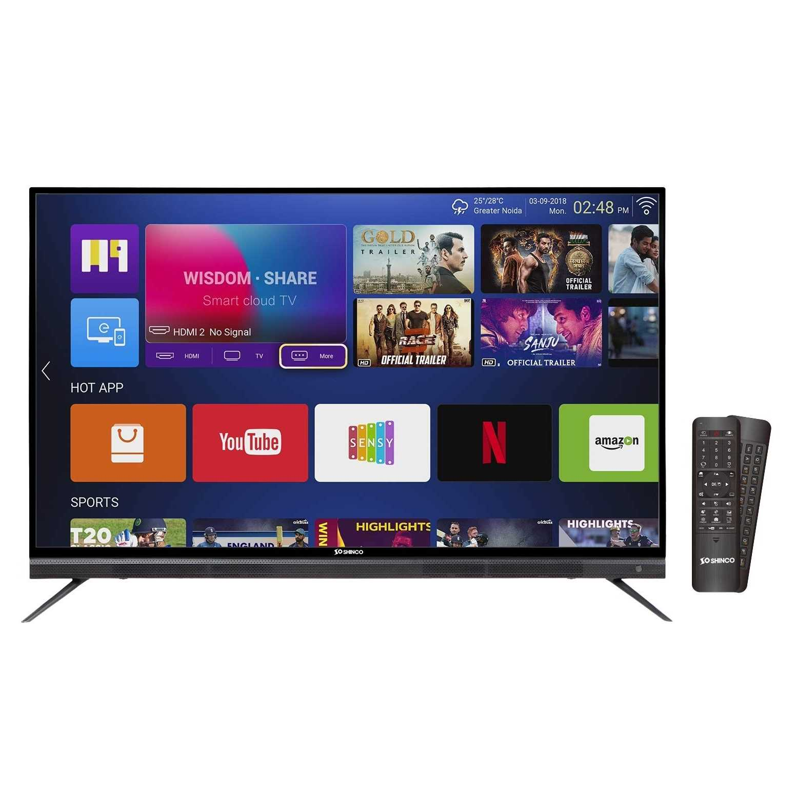 Shinco S55QHDR10 55 Inch 4K Ultra HD Smart LED Television