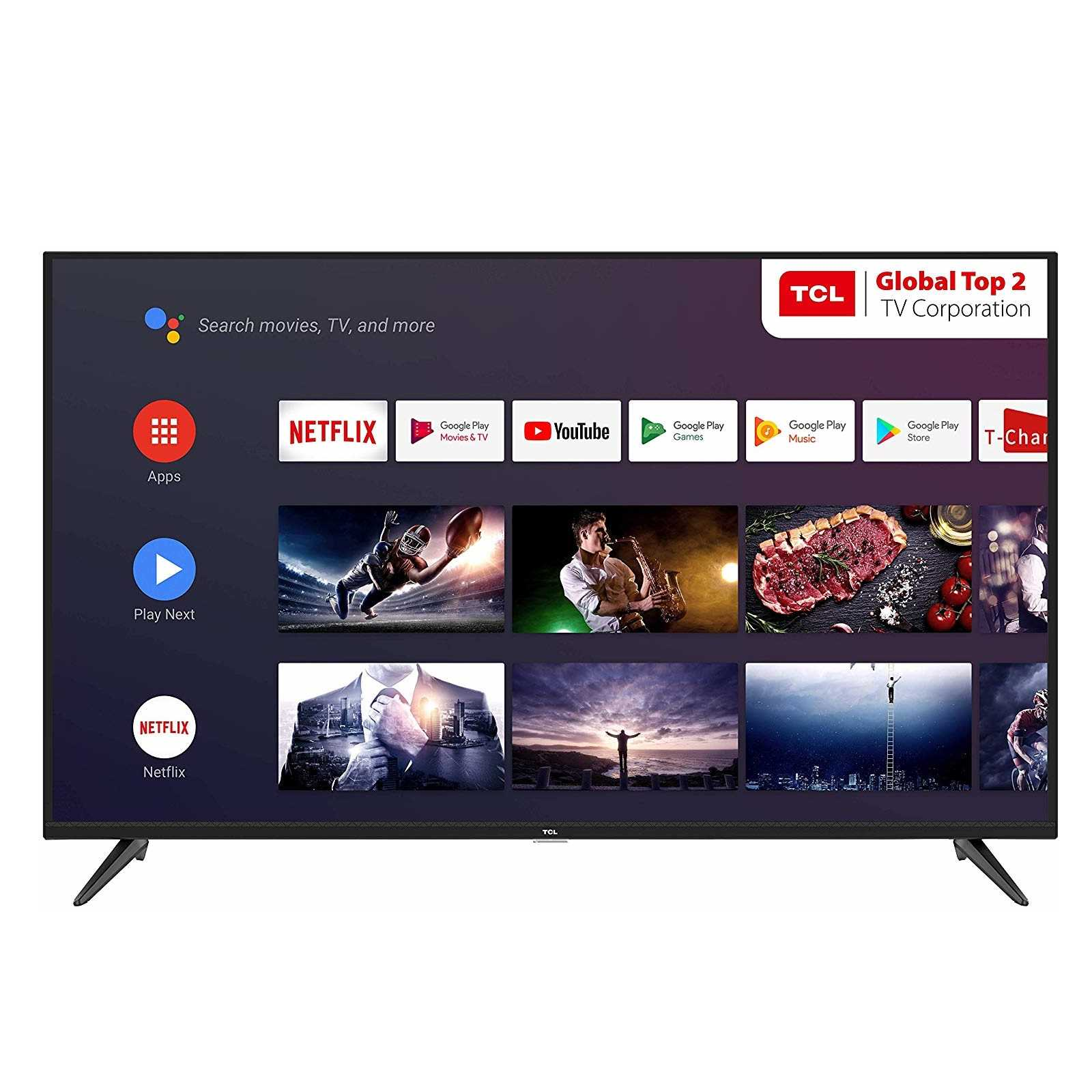 TCL 43P8 43 Inch 4K Ultra HD Smart Android LED Television