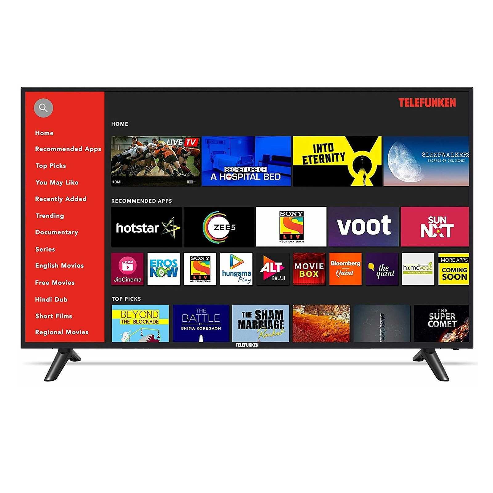 Telefunken TFK55KS 55 Inch 4K Ultra HD Smart LED Television