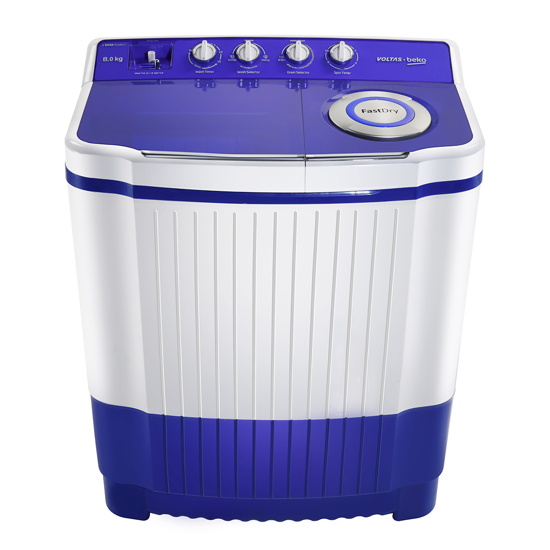 Voltas Beko WTT85 8.5 Kg Semi Automatic Top Loading Washing Machine