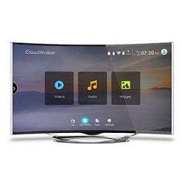 CloudWalker CLOUD TV 55SU-C 55 Inch 4K Ultra HD Smart Curved LED Television