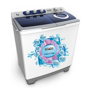 Mitashi MiSAWM85v25 8.5 Kg Semi Automatic Top Loading Washing Machine