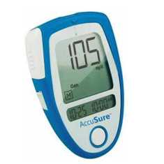 AccuSure Glucose Monitor with 35 Strips Glucometer