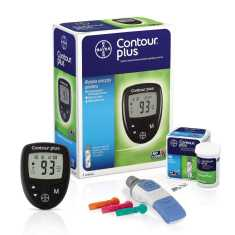Bayer Contour Plus With 10 Strips Glucometer