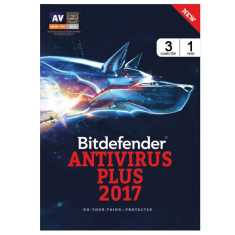 Bitdefender Antivirus Plus 2017 3 PC 1 Year