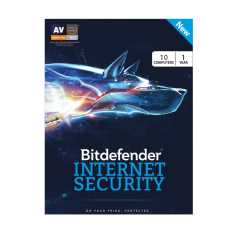 Bitdefender Internet Security 2017 10 PC 1 Year