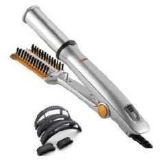 Hairinstyler Rotating Straightner Cum Curling Iron In Styler Free Plastic Bumpits Hair Curler