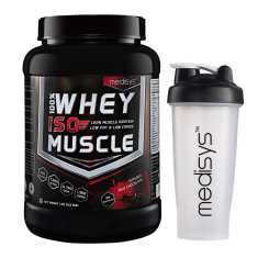 Medisys 100% Whey ISO Muscle 1 Kg with (Free Shaker)