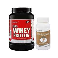 Medisys 100% Whey Protein Chocolate 1 Kg (Free Multivitamin)