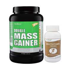 Medisys Double Mass Gainer Banana 1.5 Kg (Free Multivitamin)