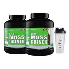 Medisys Double Mass Gainer Chocolate 3 Kg Pack of 2 (Free Shaker)