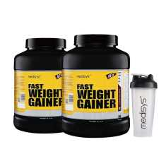 Medisys Fast Weight Gainer Chocolate 3 Kg Pack of 2 (Free Shaker)