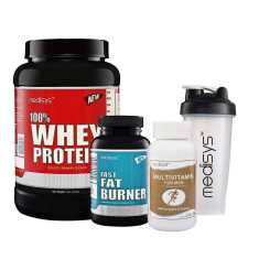 Medisys Lean Muscle Combo Whey Protein Chocolate + 1 kg Fat Burner (Free Multivitamin & Shaker)