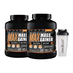 Medisys Max Mass Gainer 3 Kg Chocolate Pack of-2 (Free-Shaker)