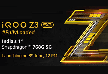 iQOO Announced The Launch Date Of Upcoming iQOO Z3 5G Smartphone; Will Sport SD 768G