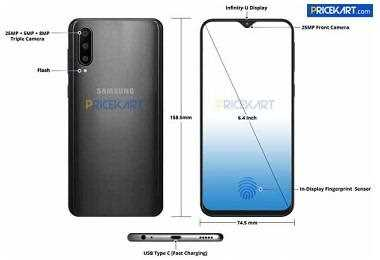 Samsung Galaxy A50 Design Leaked in Renders: Will Feature Infinity-U Display